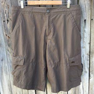 Nike Vintage Cargo Shorts Cotton Nylon Tan L